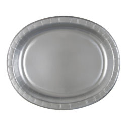 Pappersfat Oval Silver